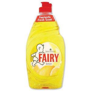 Fairy Lemon Washing Up Liquid (433ml) - Pack of 2 (Fairy Dishwashing)