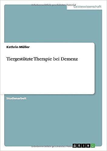 Book Tiergestützte Therapie bei Demenz