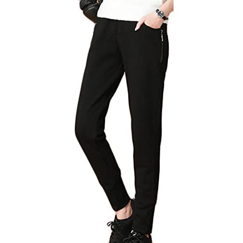 ARRIVE GUIDE Womens Winter Thick Fleece-Lined Sweatpants Loose Pants Trousers for sale