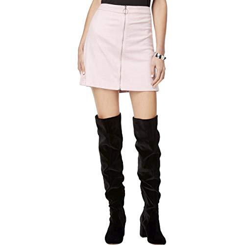 kensie Women's Reptile Suede Skirt, Black, S (Spandex Newport Skirt)