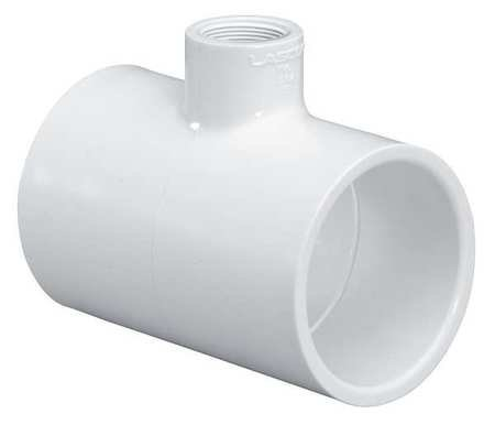 1/2 Pvc Reducer Tee - 1-1/4 Inch Socket X 1/2 Inch Fnpt Pvc Reducer Tee Sched 40