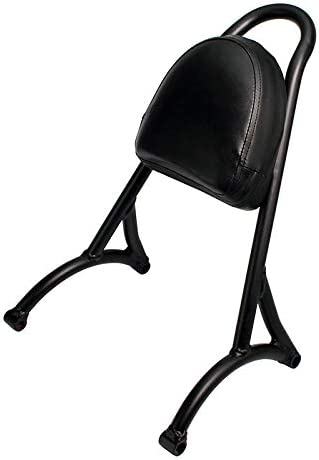 OUYAWEI Car Motorcycle Steel Sissy Bar Passenger Backrest Cushion Pad Fit For Harley Sportster XL883 1200 48 04-15 black