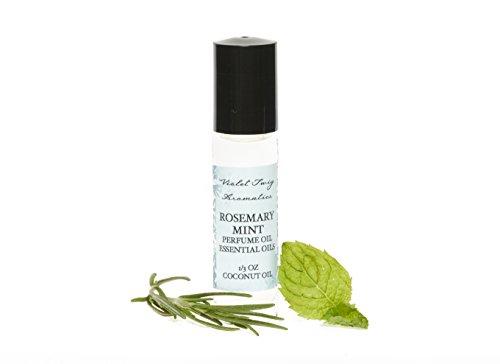 (Rosemary & Mint Perfume - Essential Oil Perfume - Rosemary Essential Oil - Rollerball Perfume - Herbal Perfume - Pure Peppermint Oil - Women's Perfume - Pure Herbal Essential - Essential Oil Perfume)