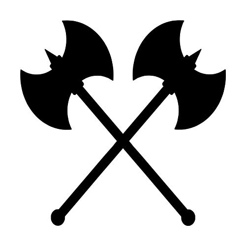 - Minglewood Trading White - Set of 2 Crossed Battle Axes 2.5