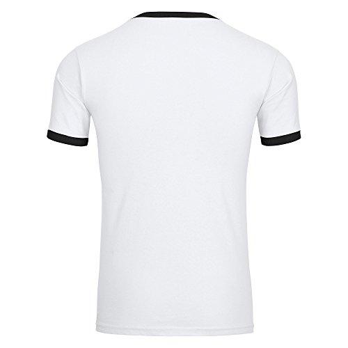 T-Shirt und ich Deutschland EM 2016 Frankreich Herren weiß / schwarz Gr. S - 2XL France Germany Deutschland