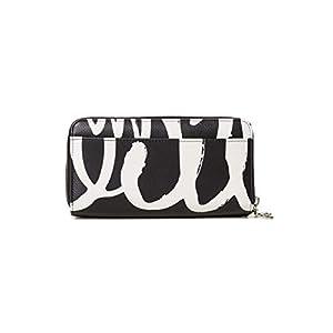 Desigual Wallet Organic Geometric Two Leve Women Desigual, Women's Wallet, Black (Negro), 4×10.5×19.5 cm (B x H T)