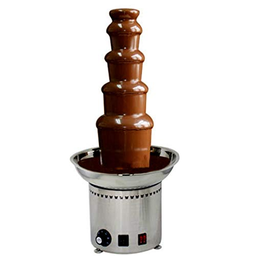 CO-Z Large Chocolate Fondue Fountain 27' 5-Tier All Stainless Steel for Big Party Wedding (Curved Cascade Fountain)