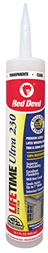 (Red Devil 0777 Lifetime Ultra Premium Elastomeric Acrylic Latex Sealant, Clear, 10.1-Ounce)