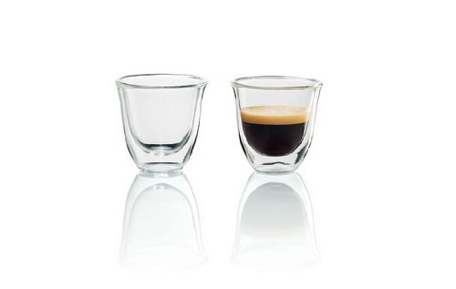 DeLonghi Double Walled Thermo Espresso Glasses, Set of 2 image