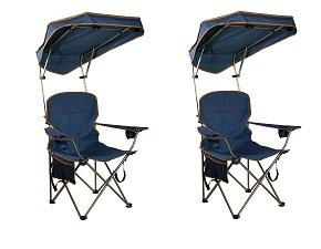 Quik Shade MAX Shade Camp Chair - Navy (2-(Pack)) by Quik Shade.
