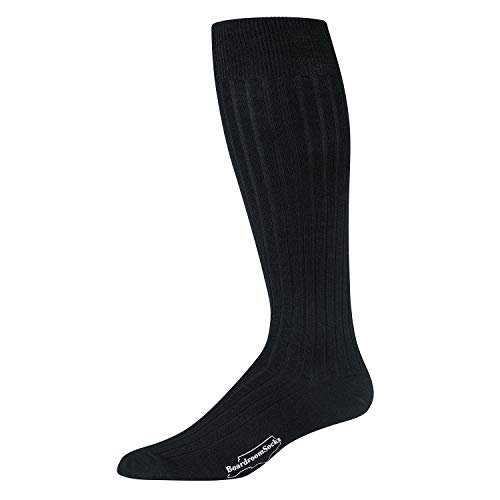 Calf Socks Wool Over - Boardroom Socks Men's Merino Wool Over-the-Calf Ribbed Dress Socks, Black
