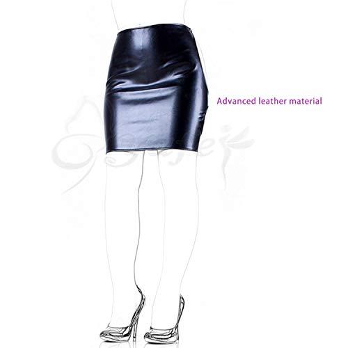 Womens Intimate Black Leather - Roleplay Pleasure Toys Dew Fart Pleasurey Leather Short Skirt Pleasure Toys for Women Exposed Ass Bondage Dress Intimate Unisex Pleasure Toys,Black