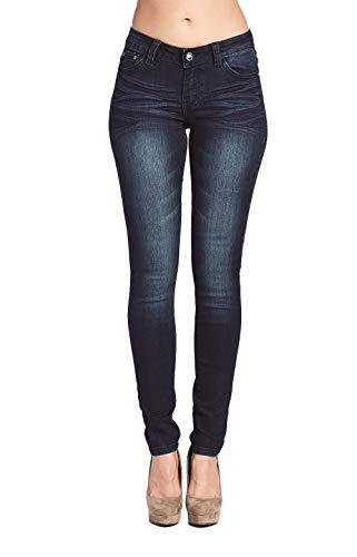 Blue Age Women's Stretch Denim Skinny Jeans Dark Wash (AMP147_DK_11)