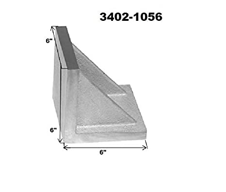 """New Precision Ground Slotted Caste Iron Angle Plate 7/"""" x 5.5/"""" x 4.5/"""" Inches"""
