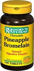Good 'N Natural - Ananas à Croquer broméline Natural enzymes digestives - 100 Comprimés