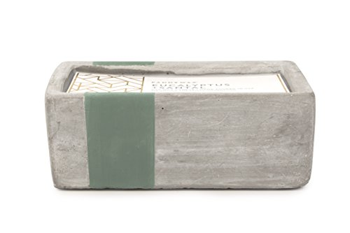 Paddywax Urban Collection Scented Soy Wax Candle, 8-Ounce, Eucalyptus & (Rectangular Concrete)