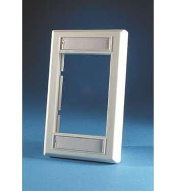 (Ortronics Single-Gang Series II Faceplate, Fog White OR-40300158)