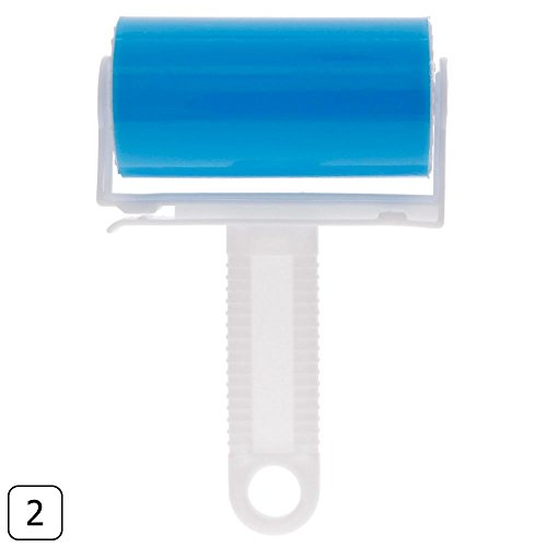 Niome Washable Sticky Dust Removal Roller Fluff Pet Hair Dust Clothes Cleaner Blue
