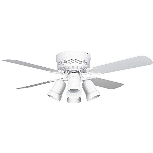 Concord Fans 42HUG4WH-Y408 42 Inch Hugger Ceiling Fan with 4 Bullet CB - White