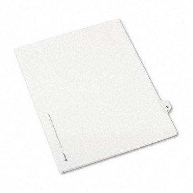 - Avery 01405 Exhibit Side Tab Divider, Printed: E, Letter Size, White, 25/Pack