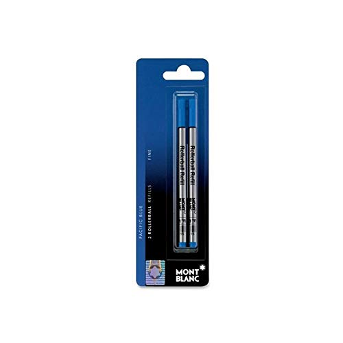 Montblanc(R) Refills, Rollerball, Fine Point, Blue, Pack Of 2