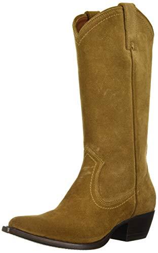FRYE Women's Sacha Tall Western Boot, Cashew, 8.5 M US