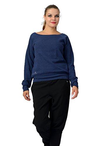 Maglione Stampa Blu Luna 3elfen Nero Donna Con Bianco Fata Scollatura Grigio Blu Rosso felpa Barca Grigio sweater dqwfUq