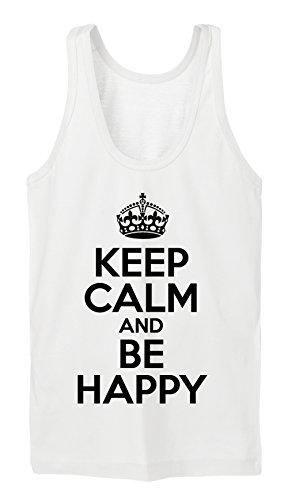 Keep Calm And Be Happy Tanktop Girls Bianco