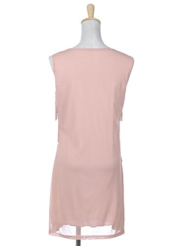 Fringed Inspired 1920s S Flapper Fit Anna Dress Pink Kaci M and Sequined 7a6f6w