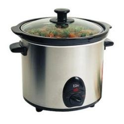 Maxi-Matic MST-450X Elite Gourmet 3-1/2-Quart Slow Cooker, Stainless from Maximatic