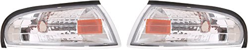Clear Corner Mustang Lights - Spec-D Tuning 2LC-MST95-RS Ford Mustang Gt/Base Corner Lights Chrome