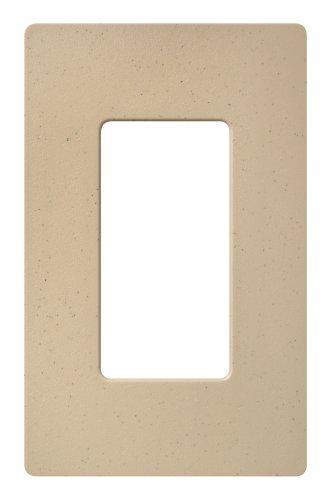 - Lutron Claro 1 Gang Decorator Wallplate, SC-1-DS, Desert Stone