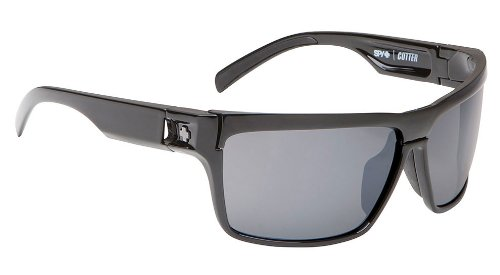 Spy Optics Cutter Black - Grey (+yellow) Wrap Sunglasses,Black,65 - Fast Eyewear Track