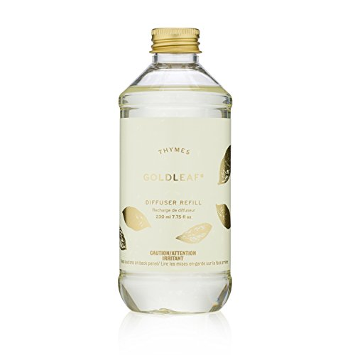 Thymes - Goldleaf Aromatic Diffuser Oil Refill - Large Bottle with Elegant Floral Scent - 7.75 oz