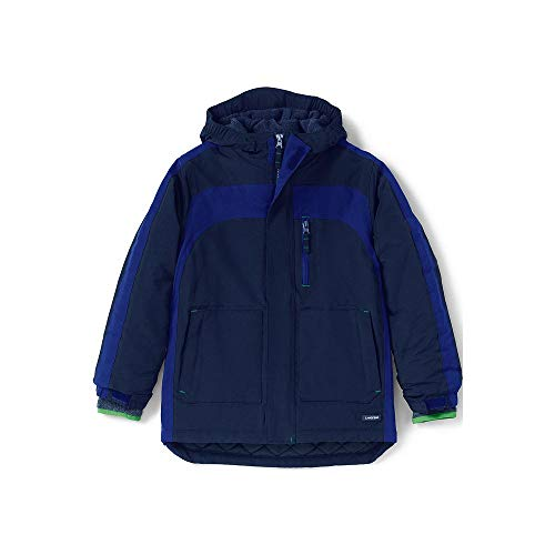 Lands End Kids Fleece - Lands' End Boys Husky Squall Waterproof Winter Parka, L, Regiment Navy