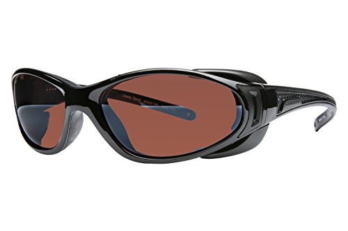 Libert Sport CHOPPER Sunglasses, Shiny BlackFrame, Rose Amber Lens, - Sports Liberty Sunglasses