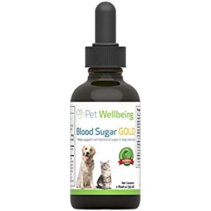 Pet Wellbeing Blood Sugar Gold for Dogs – Natural Support for Healthy Blood Sugar Levels in Dogs – 2 Ounce 59 Milliliter