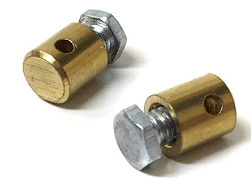 2x Gaszug Nippel Schraubnippel 5 x 7mm f/ür Mofa Moped Mokick