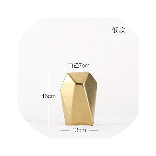 dream-higher Gold Geometric Flower Vase Centerpiece Vases Home Decor Big Vase for Living Room,a