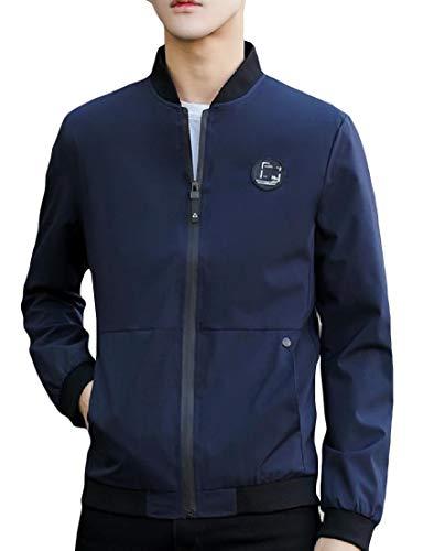 Manicotto Coreana Angelspace Outwear size Cappotto Svago Degli Uomini Plus Alla Pattern11 Lungo Tasca Di Colletto dqXd6