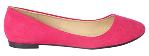 Flat Ballet Women's Round Shoes Fuchsia Marie Bella Stacy On Slip 12 Toe 8UztHxqn
