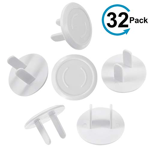 Outlet Plug Covers - Ucio 32-Pack Child Proof Electrical Protector Safety Caps Protect Toddlers and Babies Safe & Secure Electric Plug Protectors