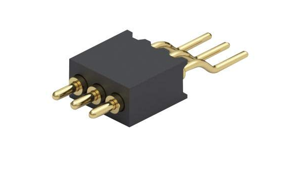 Brass 2.54 mm MILL MAX 805-10-021-00-006000-Spring Loaded Connector Target Header Through Hole Mount 3 Row 21 Contacts