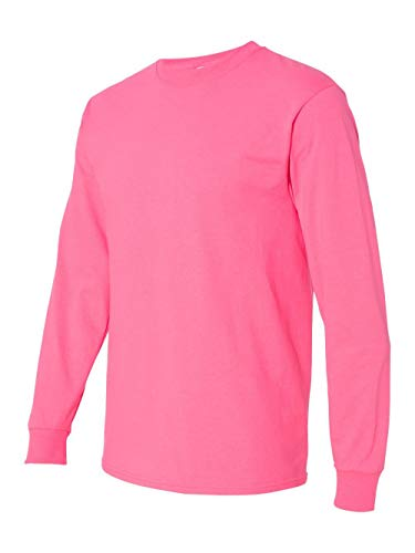 - Fruit of the Loom Adult 5 oz. Long-Sleeve T-Shirt, Neon Pink, XL