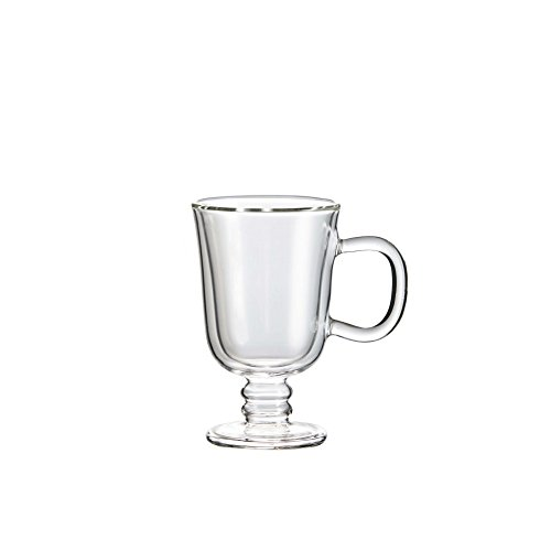 Double Wall Irish Coffee Glass Mug Set of 2, by Brilliant (Irish Coffe Cup 7.5oz.) by Brilliant (Image #1)