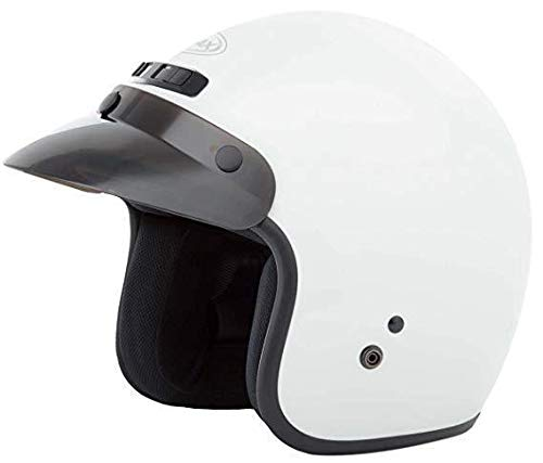 (GMax GM2 Youth White Open Face Helmet - Youth Small/Medium)