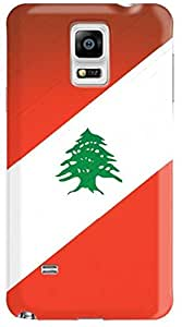Stylizedd Samsung Galaxy Note 4 Premium Slim Snap case cover Matte Finish - Flag of Lebanon