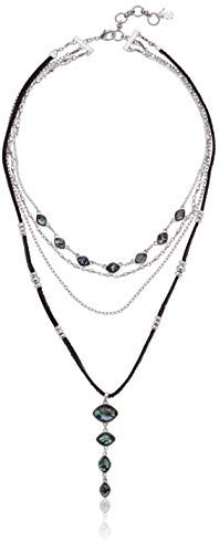 Lucky Brand Women's Abalone Lucky Layer Necklace, Two Tone, One Size (Best Women's Jewelry Brands)