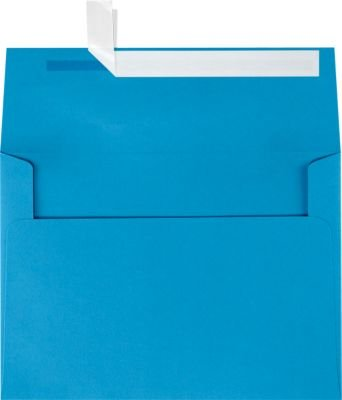 A7 Invitation Envelopes w/Peel & Press (5 1/4 x 7 1/4) - Pool Blue (50 Qty) | Perfect for Invitations, Announcements, Sending Cards, 5x7 Photos | Printable | 80lb Paper | LUX-4880-102-50