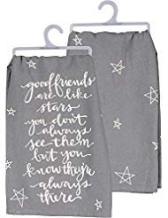 Primitives by Kathy Tea Towel Good Friends are Like Stars Always There (For Gifts Christmas Hostess)